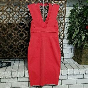 Asos Bodycon Orange Dress